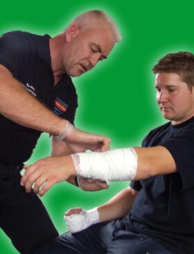 Basic first aid bandaging