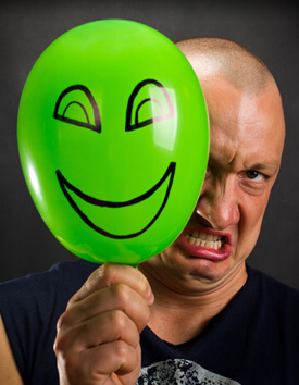Conflict Management - Man with angry face