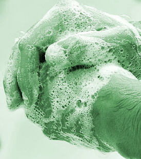 Infection control - Cleaning hands thoroughly