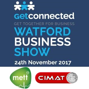 Watford Business Show 2017 complete with METT and CIMAT logos