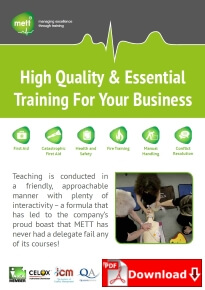 Training Course Brochure Front Page with download icon